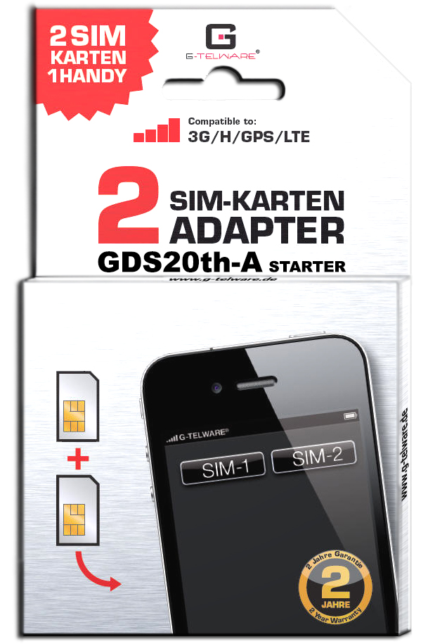 dual sim adapter karte card gds20th a ebay. Black Bedroom Furniture Sets. Home Design Ideas