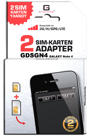 Dual SIM Adapter Card Note 4
