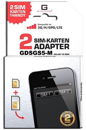 Dual SIM Adapter Card S5 Mini