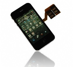 GTSI4G Triple SIM Card digital iPhone 4/ 4S with fully 3G/ UMTS Support